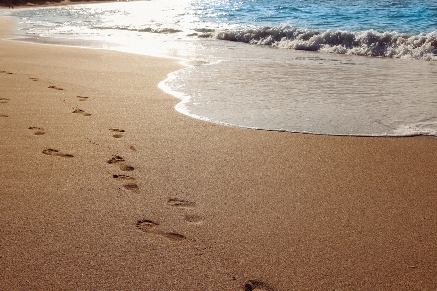 Walk on a beach